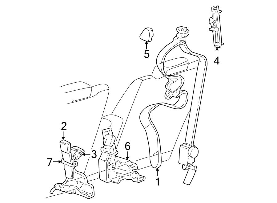 Mercury Grand Marquis Seat Belt Receptacle  Stone