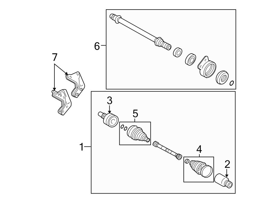 ford escape cv intermediate shaft  liter  trans  axle