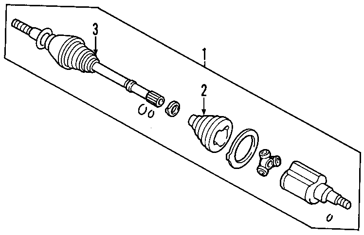 ford escape cv intermediate shaft  liter  trans  axles