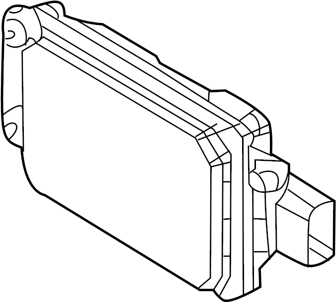 2015 Lincoln Mks Camshaft: Lincoln MKS Cruise Control Distance Sensor. Adaptive